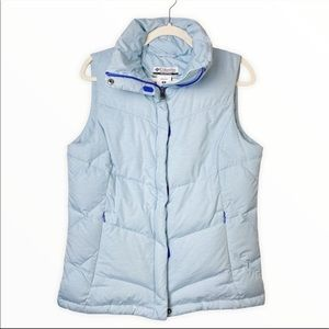 Columbia Down Filled Blue Puffer Vest